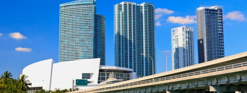 high rise buildings of downtown miami